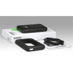 """EVOLVEO 2.5"""" Encrypt 1, externí rámeček na HDD, USB 3.0, celohliníkový, antivibrační silikonový kryt BS-KEY25"""