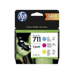 HP 711 28ml CMY Ink Crtg 3-Pack P2V32A
