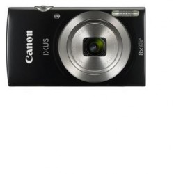 "Canon IXUS 185 BLACK - 20MP, 8x zoom, 28-224mm, 2,7"", HD video 1803C001"