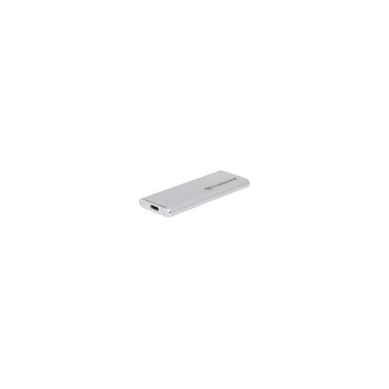 Transcend CM42 externí SSD rámeček, M.2 SATA SSD typ 2242, USB 3.0/USB-C, celohliníkový, stříbrný TS-CM42S