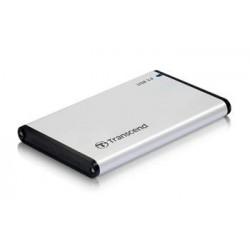 """Transcend StoreJet 25S3 externí rámeček pro 2.5"""" HDD/SSD, SATA III, USB 3.0, celohliníkový, stříbrný TS0GSJ25S3"""