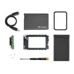 """Transcend StoreJet 25CK3 externí rámeček pro 2.5"""" HDD/SSD, SATA III, USB 3.0, pogumovaný obal, šedý TS0GSJ25CK3"""