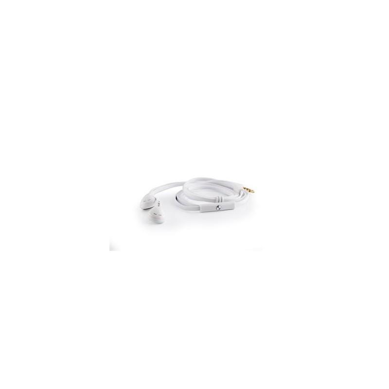 Modecom Logic LH-15 sluchátka do ucha s mikrofonem, pecky, 1,2m kabel, 3,5mm jack, bílá S-LC-LH-15-WHI