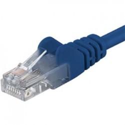PremiumCord Patch kabel UTP RJ45-RJ45 CAT6 1m modrá sp6utp010B