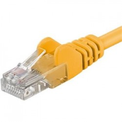 PremiumCord Patch kabel UTP RJ45-RJ45 CAT6 3m žlutá sp6utp030Y