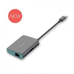 i-Tec USB-C 3.1 Metal HUB + Gigabit Ethernet Adapter C31METALANHUB