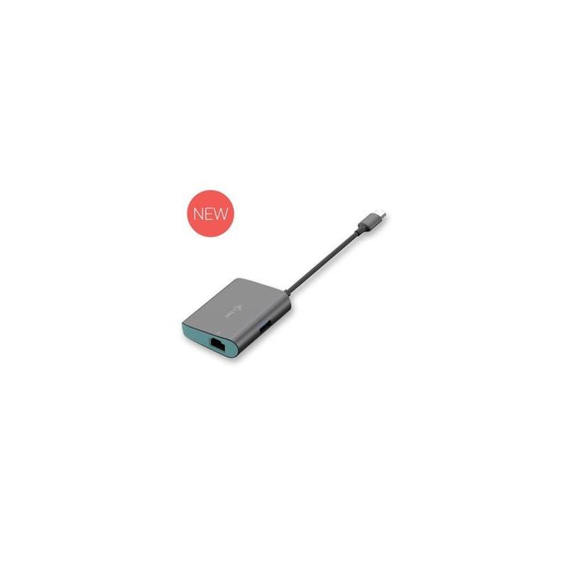 i-Tec USB-C 3.1 Metal HUB + Gigabit Ethernet Adapter C31METALANHUB