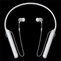 SONY WI-C400W Bezdrátová sluchátka do uší s technologiemi Bluetooth® a NFC s pohodlným páskem na krk - white WIC400W.CE7