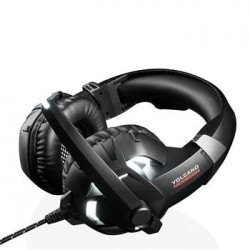 Modecom VOLCANO SHIELD headset, herní sluchátka s mikrofonem, 2,2m kabel, 3,5mm jack, USB, LED podsvícení S-MC-849-SHIELD