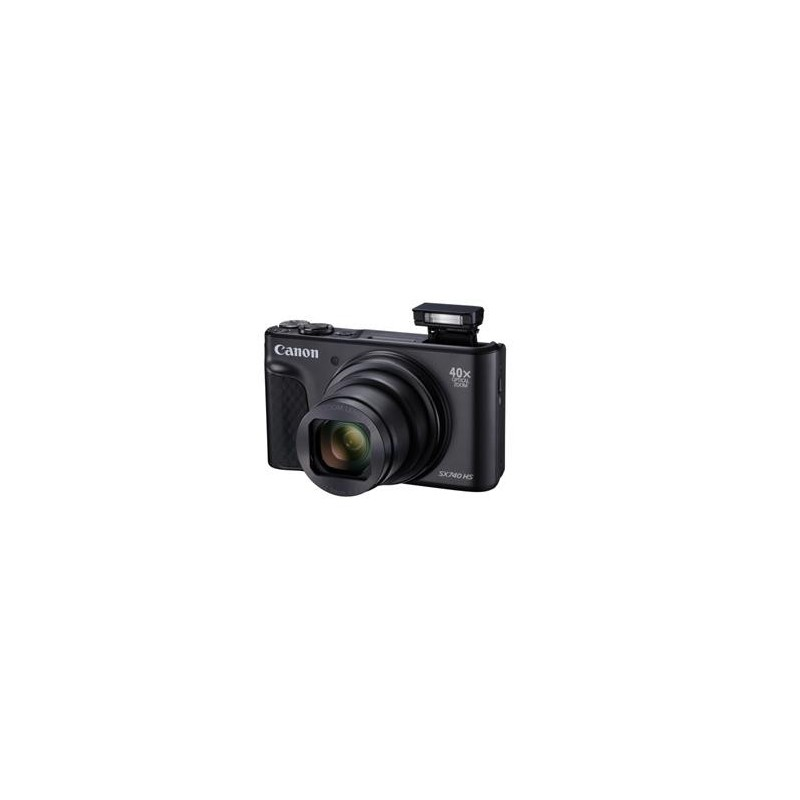 Canon PowerShot SX740HS, Black - 20MP, 40x zoom, 24-960mm, 4K 2955C002