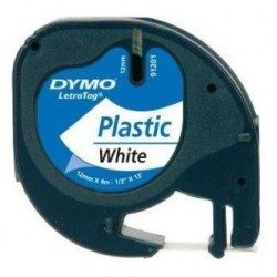 páska DYMO 59422 LetraTag White Plastic Tape (12mm) S0721660/S0721560