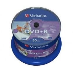 DVD+R VERBATIM 4,7GB 16X 50ks/cake NO ID WIDE printable 43512