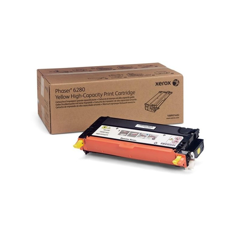 Xerox YELLOW HIGH CAPACITY PRINT CARTRIDGE, PHASER 6280 DMO (5.9K) 106R01402