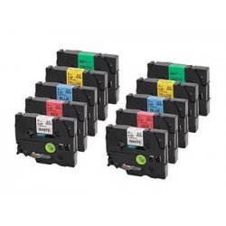 Kompatibilná páska BROTHER TZ611 čierne písmo, žltá páska Tape (6mm) ECO-TZE-611