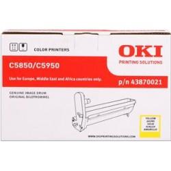 valec OKI C5850/C5950, MC560 yellow 43870021