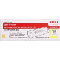 toner OKI C5850/C5950, MC560 yellow 43865721