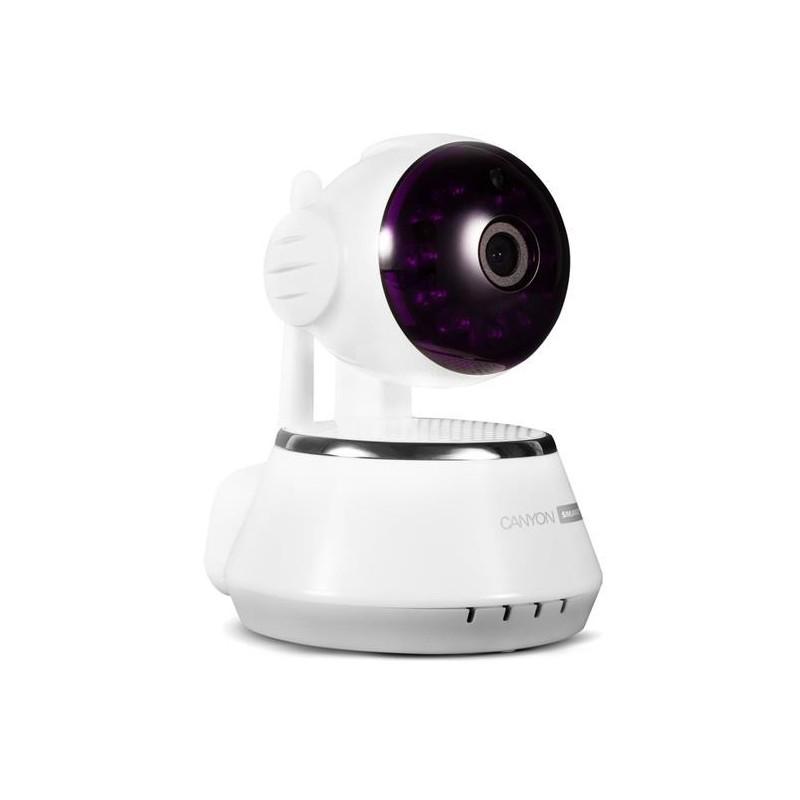 Canyon CNSS-CM1W indoor Wi-Fi HD IP kamera, špeciálne na dohľad domácnosti, širokouhlé natáčanie, biela
