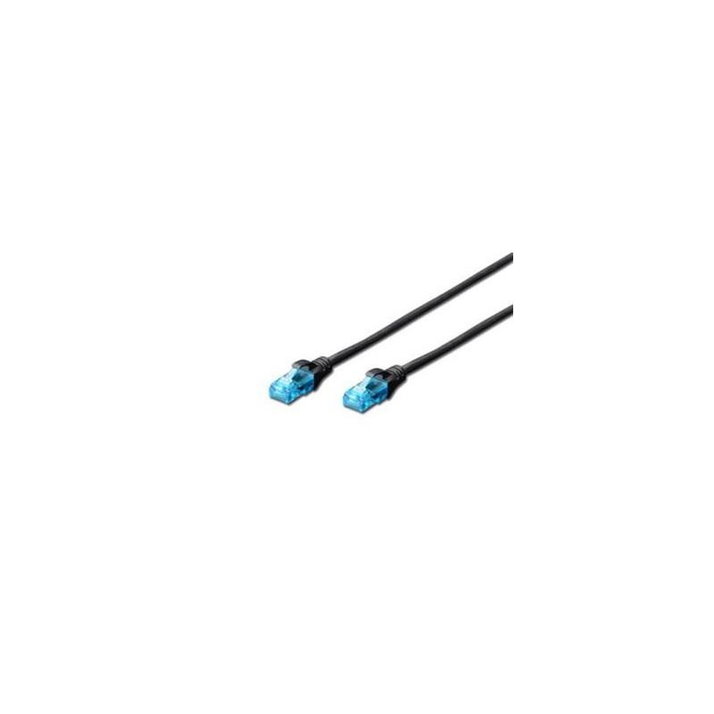 Digitus Ecoline Patch Cable, UTP, CAT 5e, AWG 26/7, černý 1m, 1ks DK-1512-010/BL