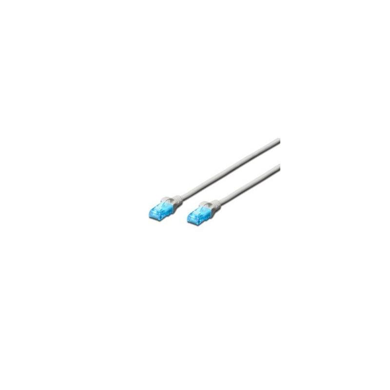 Digitus Ecoline Patch Cable, UTP, CAT 5e, AWG 26/7, šedý 0,5m, 1ks DK-1512-005