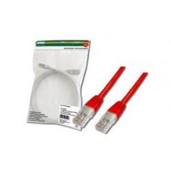 Digitus Patch Cable, UTP, CAT 5e, AWG 26/7, měď, červený, 0,5m...