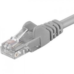PremiumCord Patch kabel UTP RJ45-RJ45 level 5e 0.25m šedá sputp002