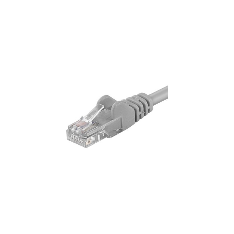 PremiumCord Patch kabel UTP RJ45-RJ45 level 5e 1m šedá sputp01