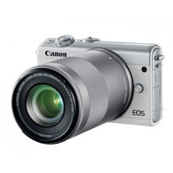 Canon EOS M100 White + EF-M 15-45mm f/3.5-6.3 IS STM + EF-M 55-200mm f/4.5-6.3 IS STM 2210C022