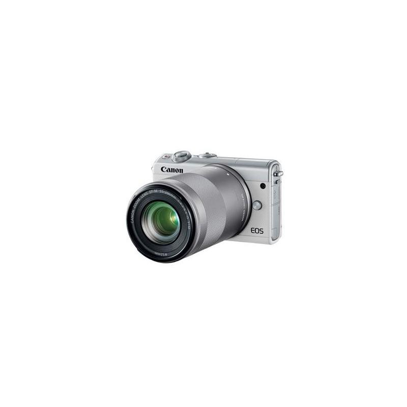 Canon EOS M100 White + EF-M 15-45mm f/3.5-6.3 IS STM + EF-M 55-200mm f/4.5-6.3 IS STM 2210C022