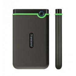 "TRANSCEND 1TB StoreJet 25M3S SLIM, USB 3.0, 2.5"" Externí Anti-Shock disk, tenký profil, šedo/zelený TS1TSJ25M3S"