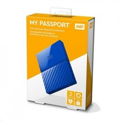 "WD My Passport 2TB Ext, 2,5"" USB3.0, BLUE WDBS4B0020BBL-WESN"