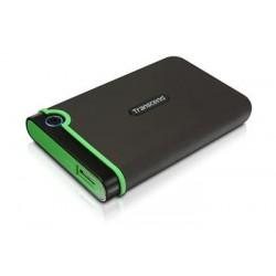 "TRANSCEND 500GB StoreJet 25M3S SLIM, USB 3.0, 2.5"" Externí Anti-Shock disk, tenký profil, šedo/zelený TS500GSJ25M3S"