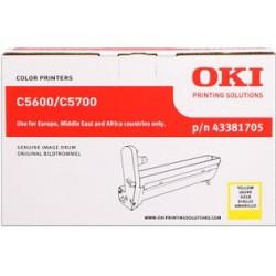 valec OKI C5600/C5700 yellow 43381705