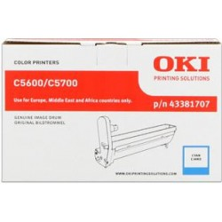 valec OKI C5600/C5700 cyan 43381707
