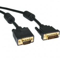 Kábel DVI to VGA M/M 5m kpdvi1a5