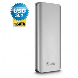 "FANTEC ALU31mSATA silver 1,8"" USB 3.1 Typ-C 1901"