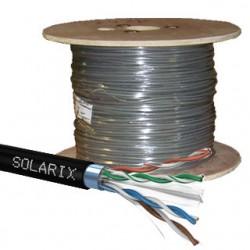 SOLARIX kábel CAT6 FTP PE Fca vonkajší 500m/cievka SXKD-6-FTP-PE