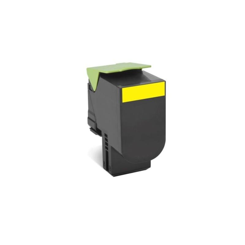 Lexmark 802HY CX410, CX510, Yellow High Yield Return Program Toner Cartridge 3k 80C2HY0