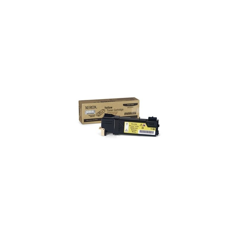 YELLOW TONER CARTRIDGE, PHASER 6125 1K 106R01337