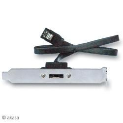 AKASA ESATA-45-EX, backplate adaptor