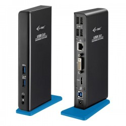 i-tec USB 3.0 Dual Video DVI HDMI Docking Station + Glan + Audio + USB 3.0 Hub U3HDMIDVIDOCK