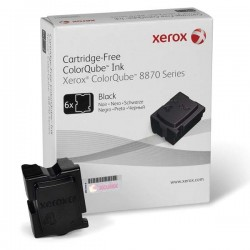 XEROX COLORQUBE INK BLACK, COLORQUBE 8870 (6 STICKS), DMO 108R00961