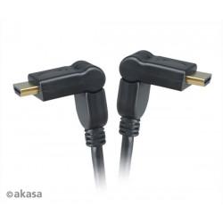 AKASA AK-CBHD11-20BK, výklopný vysokorýchlostný HDMI kábel s Ethernetom