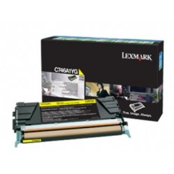 Lexmark C746, C748 Yellow Return Program Toner Cartridge 7K C746A1YG