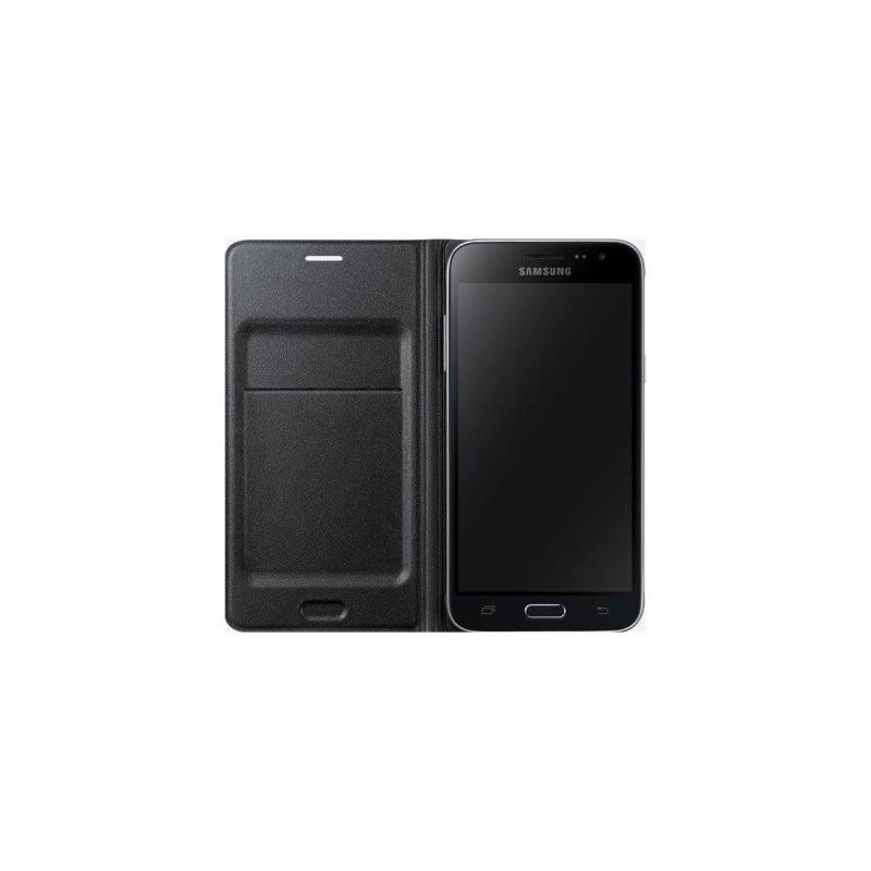 Samsung flipové púzdro pre Galaxy J3, Čierna EF-WJ320PBEGWW