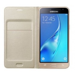 Samsung flipové púzdro pre Galaxy J3, Zlata EF-WJ320PFEGWW