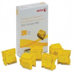XEROX COLORQUBE INK YELLOW, COLORQUBE 8900 (6 STICKS), DMO 108R01024