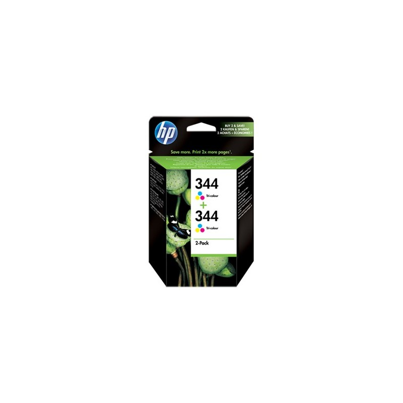 HP Ink Cart 344/3c 14ml 2pk C9505EE
