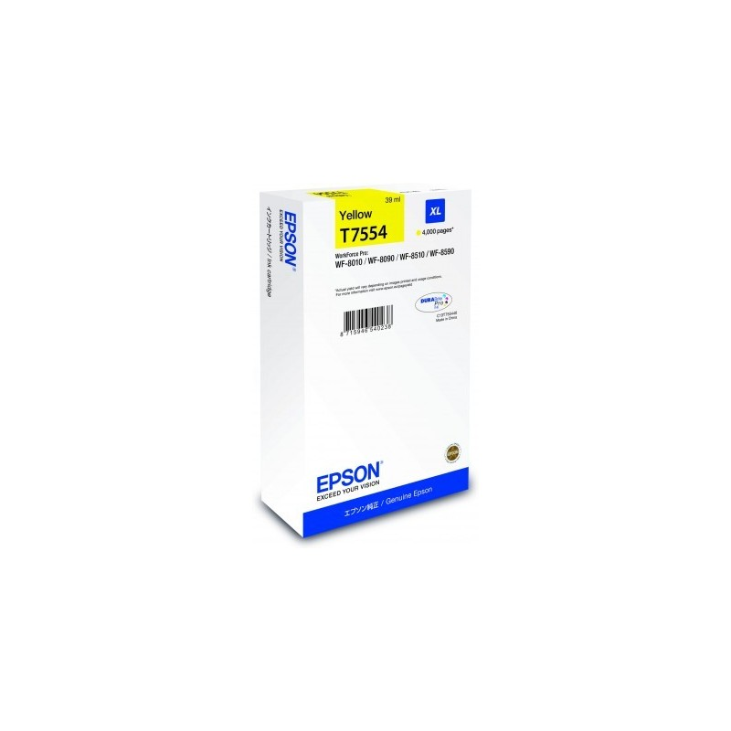 Epson atrament WF8000 series yellow XL - 39ml C13T755440