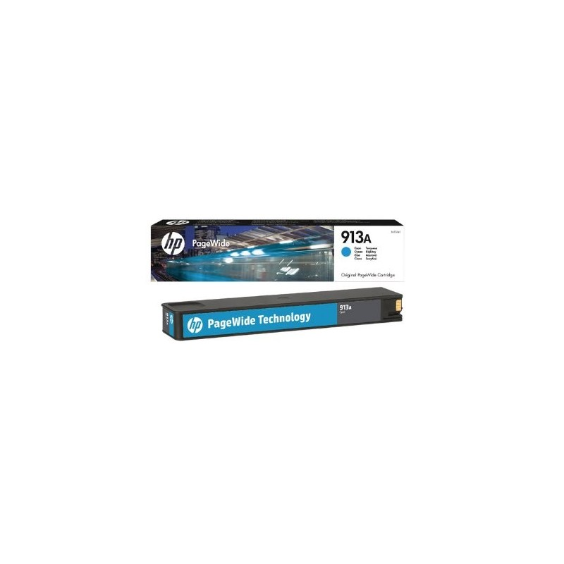 HP 913A Cyan Original PageWide Cartridge F6T77AE