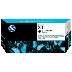 HP No.80 Black Printhead and Printhead Cleaner C4820A